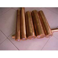 Industrial Round Shaped Copper Products , Big Diameter Red Copper Bar Manufactures