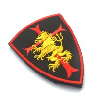 Shoulder Custom Embroidered Badges , Military Hook And Loop Patches Fabric Cloth Manufactures