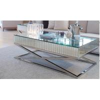 Quality High Polish Steel Silver Mirror Table, Living Room Mirrored Coffee Table for sale