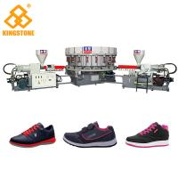 Rotary Double Colour DIP sport shoes Injection Moulding Machine 220-300 Pairs Per Hour Manufactures
