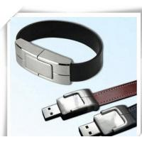 Quality Hand Catenary Shaped Metal Leather USB Flash Drives pendrive genuine 4gb / 8gb / for sale