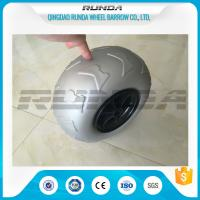 9 Inch Pneumatic Rubber Wheels PP Rim , Balloon Hand Truck Wheels Without Bearing Manufactures