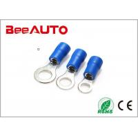 RV2-5 Flag Female Electrical Ring Terminals , Ring Lug Connector International Standard Manufactures