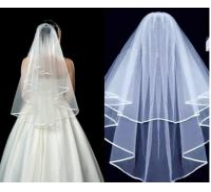 Milk white bridal veil spot manufacturer sells a new style of hair, bridal veil, wedding dress, 3pcs sales Manufactures