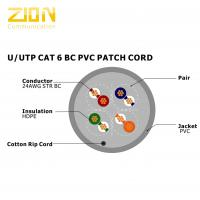 U / UTP BC PVC Cat 6 Utp Patch Cord , Cctv Camera Cable RoHS Compliant Manufactures