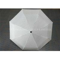 21 Inch Fully Automatic Windproof Folding Umbrella Small Polka Dot Printed