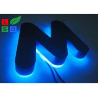 Quality Half Lit LED Channel Letter Signs 2835 SMD LED Source With Polished Stainless Body for sale