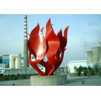 Modern Red Painted Stainless Steel Outdoor Sculpture OEM / ODM Available Manufactures