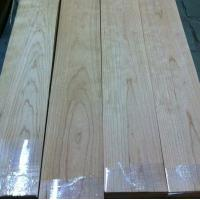 Quality Quarter Cut Cherry Wood Floor Veneer Sheets Fine Straight Crown Grain for sale