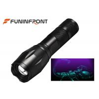 3W High Power Black Light LED Flashlight 395NM Wavelength Adjustable Focus Torch Manufactures