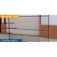 "Quality 6'X9.6' temporary construction fence frame 1.6""/40mm brace1.2""/30mm and 16ga  akzolnobel powder coated ral 6004 for sale"