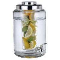SGS/FDA 2 in one,6.3L cold glass beverage dispenser with ice infuser eco-friendly Manufactures