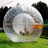 Large Clear Inflatable Zorb Ball Rental , Human Sized Hamster Ball Manufactures