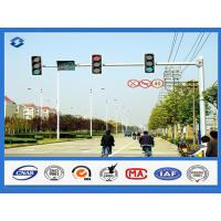8 Sides 1 Arm Hot dip Galvanized street sign pole , AWS D 1.1 Welding Standard traffic sign posts Manufactures