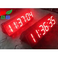 Quality Outdoor White / Red LED Countdown Digit Sign Board With RF Remote Control for sale