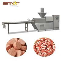 Single Screw Pet Food Extruder Machine , Dog Chewing Treats Making Machine Manufactures
