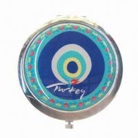 China Fashionable Promotional Compact Mirror, Customized Colors, Logos and Sizes are Accepted on sale
