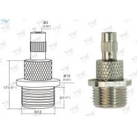 Key Flange Cap Grip Lock Cable Grippers Brass Material Nickel Plated With Safety Lock Manufactures