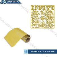 Soft Annealed C26000 C27000 Rolled Brass Foil Roll For Heating Foils / Lamination Manufactures