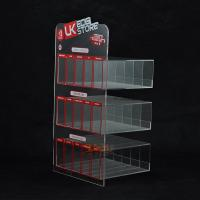 Buy cheap Custom Plastic E - Cigarette Display Stand Transparent More Rows More Tiers from wholesalers