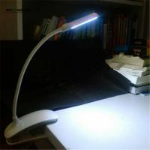 Flexible Clip On 7 LED Book Light Reading Lamp White Bright Dual Arms Clip luminaria de mesa Flexible Lamp Manufactures