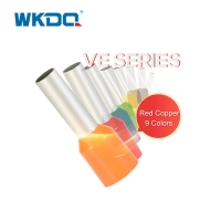 VE1008 1.0mm² Ferrule Wire Connectors Tail Tubular Electrical Wire Terminal Ends Plastic Collar For Stranded Wire Manufactures