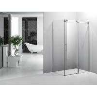 Frameless Square Bathroom Shower Enclosures With Sliding Doors Stainless Steel Wheels Manufactures
