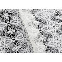 China Floral Schiffli Water Soluble Lace Fabric With Poly Milk Fiber SGS Approval on sale