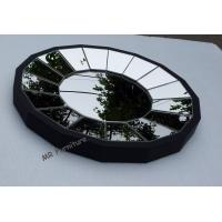 Wooden Frame Wall Mirror For Dining Room, 40cm Round Wall Mirror Decor Manufactures