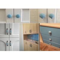 Quality Blue Heart Ceramic Drawer Pulls Colorful Porcelain Furniture Handles Anti Brass Wardrobe Knobs for sale