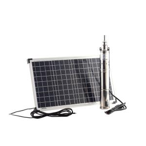 China Whaleflo solar stainless screw submersible pump 600W 115 lift brushless high flow solar water pumps 76mm head on sale