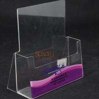 Single Layer Clear Acrylic Brochure Holder Manufactures