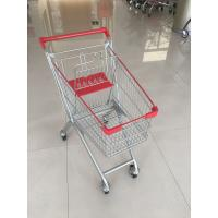 60 L 4 PU Casters Supermarket Shopping Carts , Shopping Push Cart With Groceries Manufactures