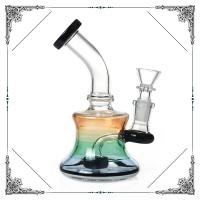 6 Inches Mini Bong Black Showerhead Perc Glass Water Pipes 14mm Joint Manufactures