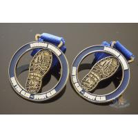 Zinc Alloy Cut Out Sports Metal Medal / Personalised Running Medals Manufactures