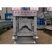 Quality Grey Color Ridge Cap Roll Forming Machine Using GI Colored Steel Material for sale