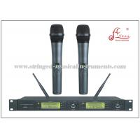 China Dual Receiver UHF FM Transmitter Portable PA System , Wireless MIC Microphone on sale
