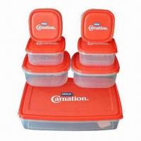 PP Food Storage Box Set, Available in Various Sizes and Colors, BPA-free, FDA/EN 71 Certified Manufactures