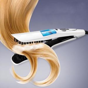 Wholesale  New  fashion Ceramic Hair Straightener Brush Comb Hairbrush LCD Straightening Steam Styler Hair Styling Tools Manufactures