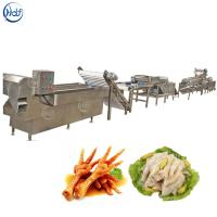 China Stable Chicken Feet Processing Line , Chicken Feet Cutting Machine Easy Operation on sale