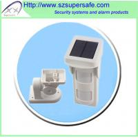 IP65 waterproof solar powered wireless outdoor motion detector with 2 PIR + MW Manufactures