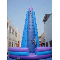 Unique Blue Outdoor Inflatable Rock Climbing Wall / Blow Up Rock Climbing Wall Distributor Manufactures