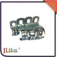 Zinc Galvanized Hydraulic Tube Saddle Clamps / Saddle Pipe Clips Vertical Without Rubber Manufactures
