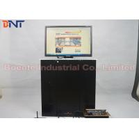 17 Inch LCD / LED Monitor Display Motorized Pop Up Lift Office Video System Aluminum Alloy Panel Manufactures