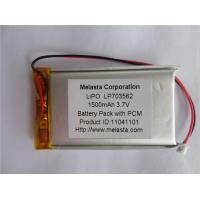 Quality 1500mAh 3.7V Lithium Polymer Battery (LP703562) with CE approval for sale