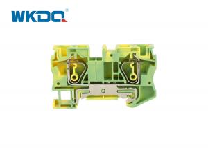 JST 6-PE Universal Din Rail Power Distribution Block , Spring Loaded Wire Connector PE Ground Manufactures