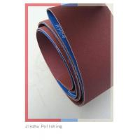 China Low Noise Custom Sanding Belts , Abrasive Cloth Belt With Small Dust on sale