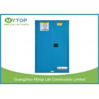 30 Gal Blue Fireproof Safety Storage Cabinets For Flammable And Combustible Liquids Manufactures