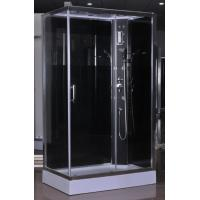 Quality White ABS Tray Chrome Profiles Rectangular Shower Cabins 1200 X 800 X 2250 mm for sale