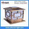 Buy cheap Square Aluminum Solar Pillar Lights Bronze Lampshade Solar Brick Column Post from wholesalers